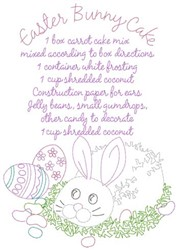 Easter Bunny Cake embroidery design