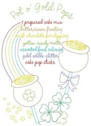 Pot O Gold Pops embroidery design