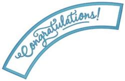 Congratulations Applique embroidery design