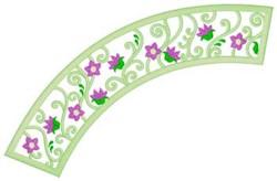 Flowers & Swirls Applique embroidery design
