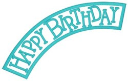 Happy Birthday Applique embroidery design