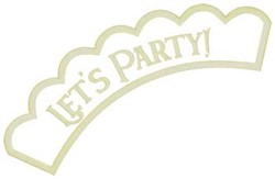 Lets Party Applique embroidery design