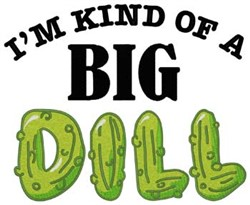 Big Dill embroidery design