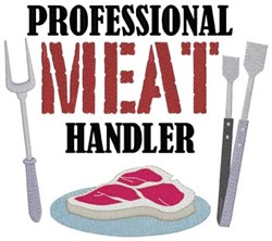Meat Handler embroidery design