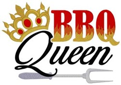BBQ Queen embroidery design