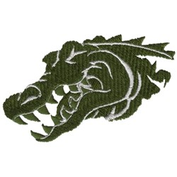 Gator Head embroidery design