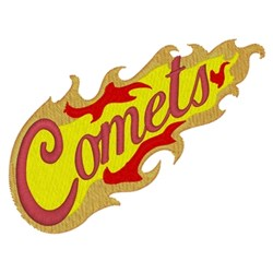 Comets embroidery design