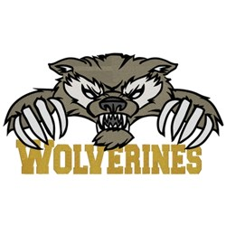 Wolverines embroidery design
