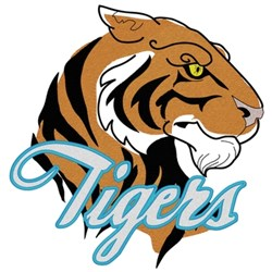 Tigers Head embroidery design