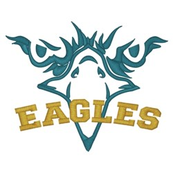 Eagles Stare embroidery design