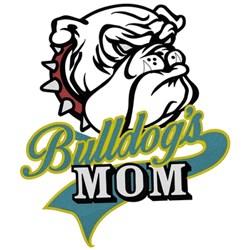 Bulldogs Mom embroidery design
