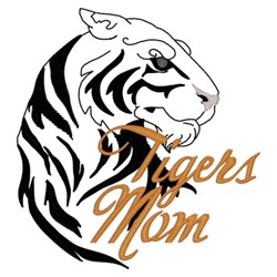 Tigers Mom embroidery design