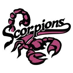 Scorpions embroidery design
