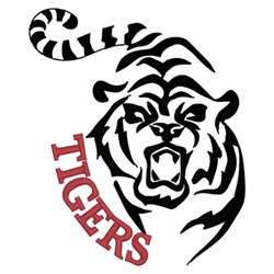 Tigers Outline embroidery design