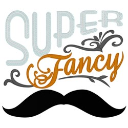 Super Fancy Moustache embroidery design
