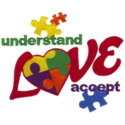 Understand, Love, Accept embroidery design