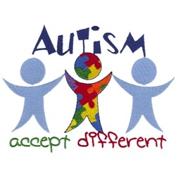 Autism Accept Different embroidery design
