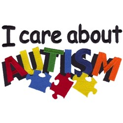 I Care About Autism embroidery design
