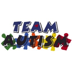 Team Autism embroidery design