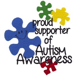 Autism Awareness Puzzle embroidery design