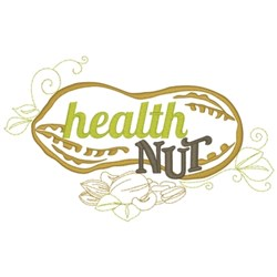 Health Nut embroidery design