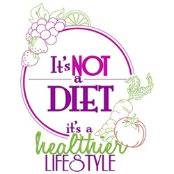 Healthier Lifestyle embroidery design