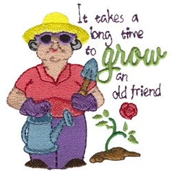 Grow An Old Friend embroidery design