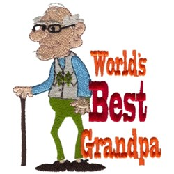 Worlds Best Grandpa embroidery design