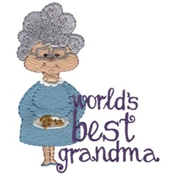 Worlds Best Grandma embroidery design