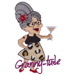 Granny-tude embroidery design