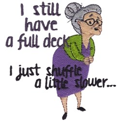 Full Deck Grandma embroidery design