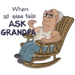 Ask Grandpa embroidery design
