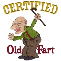 Certified Old Fart embroidery design