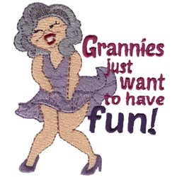 Grannies Just Want... embroidery design