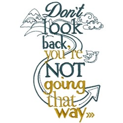 Dont Look Back embroidery design