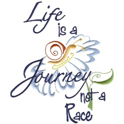 Lifes A Journey embroidery design