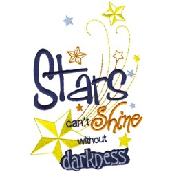 Stars Cant Shine embroidery design