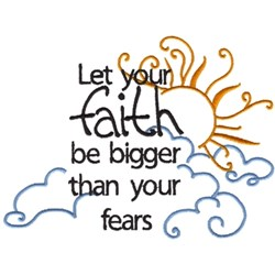 Let Your Faith embroidery design