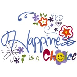 Happiness Is... embroidery design