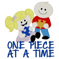 One Piece At A Time embroidery design