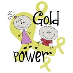Gold Power embroidery design
