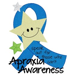 Apraxia Awareness embroidery design