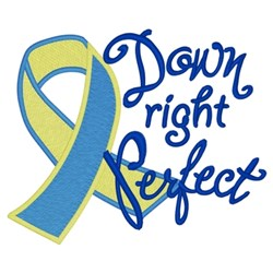 Down Right Perfect Ribbon embroidery design