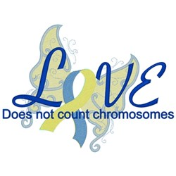 Love Dont Count Chromosomes embroidery design