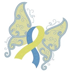 Down Syndrome Butterfly embroidery design