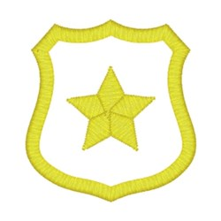 Yellow Star Badge embroidery design