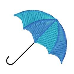 Blue Umbrella embroidery design