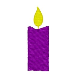 Purple Candle embroidery design