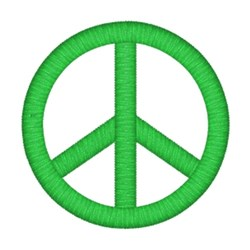 Green Peace Sign embroidery design