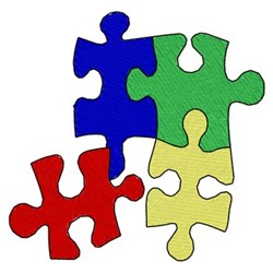 Autism Puzzle Pieces embroidery design